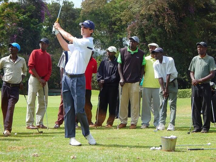 Golf-Kenya_trip-Seth_Reeves_and_caddy_clinic_at_Windsor_golf_club