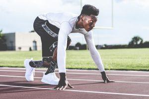 man set to run on track